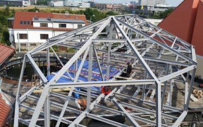Ocelová konstrukce patra Brno Rybnická